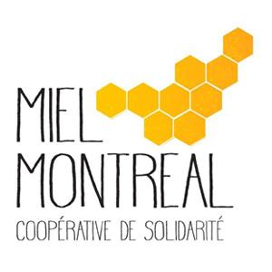 Logo Miel Montréal coopérative de solidarité